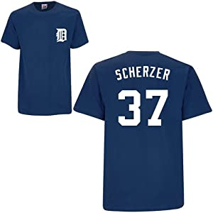 Max Scherzer Detroit Tigers Youth Name & Number Player T-Shirt Jersey by Majestic