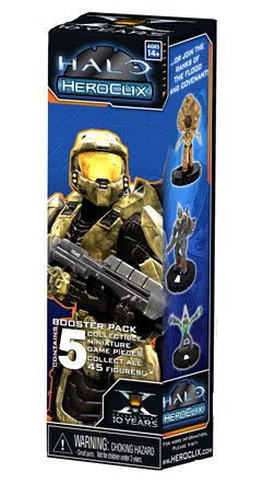 Halo Heroclix Trading Miniature Figure Game 2011 Edition 5Figure Booster Pack (Marvels 10th Anniversary Edition compare prices)