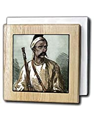 India, Sepoy Rebellion (1857), Colored engraving - HI13 PRI0172 - Prisma - 6 Inch Tile Napkin Holder by 3dRose