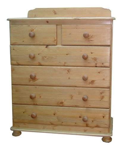 Wye Pine Bespoke Woodland Chest - Finish: Unfinished - Stain: Waterbased