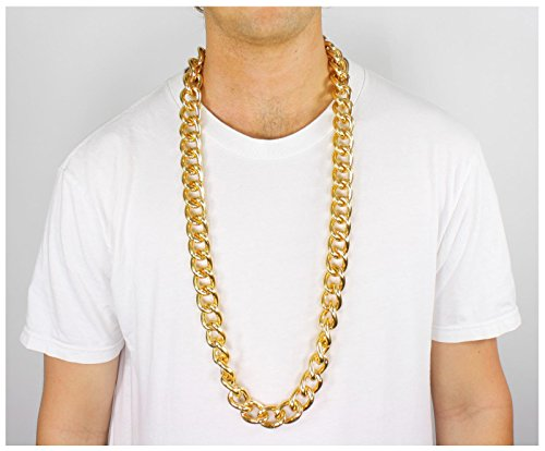 Gold Metal Link Chain Necklace