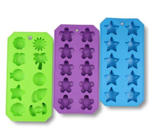 Ice Cube Silicone Shape Tray Freezer Tray 3 Pack