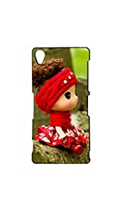 Cute Little Doll In Red Frock Case For Sony Xperia Z-3