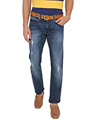 French Connection Men's Slim Fit Jeans (886928674871_54EFX_32W x 25L_Dark Blue)