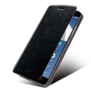 Mofi Premium PU Leather Flip Case for OnePlus Two - Black