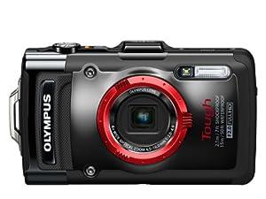 Olympus TG-2 Digitalkamera (12 Megapixel CMOS-Sensor, 4-fach opt. Zoom, 7,6 cm (3 Zoll) OLED-Display, F2,0 Objektiv, GPS, wasserdicht bis 15 m, kälteresistent, staub-, stoß und bruchgeschützt) schwarz