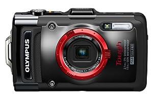 OLYMPUS デジタルカメラ STYLUS TG-2 1200万画素CMOS 15m防水 100kgf耐荷重 ブラック TG-2 BLK