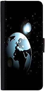 Snoogg Background With Space In Earth Designer Protective Phone Flip Case Cover For Apple Iphone 6