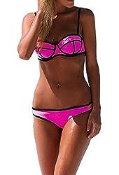 Ebuddy Push up Bright Bling Bikini Set Swimsuit Swimwear