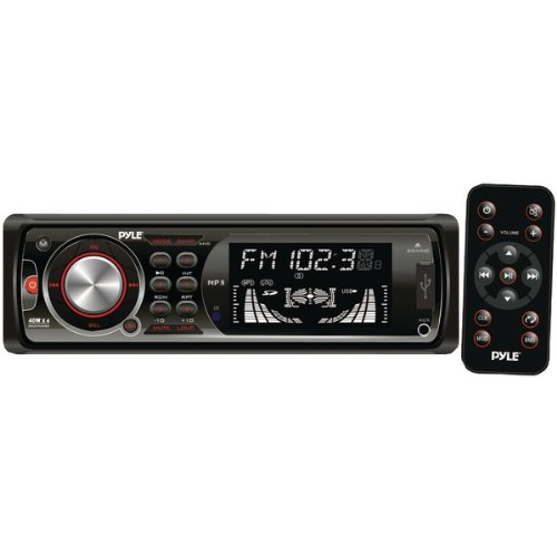 Pyle PLR35MPD In-Dash AM/FM-MPX Receiver, MP3 Playback and USB/SD/AUX Ports with Detachable Faceplate