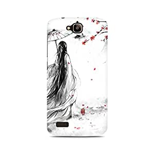 Mobicture Girl Abstract Premium Printed Case For Huawei Honor Holly