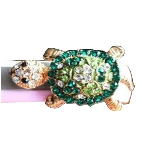 Mavis'S Diary Dust Plug- Earphone Jack Accessories Crystal Lovely Green Turtle/ Cell Charms / Ear Jack For Iphone 4 4S / Ipad / Ipod Touch / Samsung Galaxy /Lg Other 3.5Mm Ear Jack With Clean Cloth
