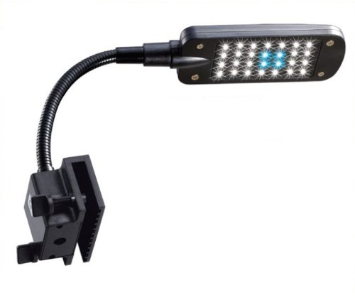 Samyo 2W 3 Mode Flexible Aquarium Clip Tank Lamp 28 Led White & Blue Light With Touchable Inductive Switch