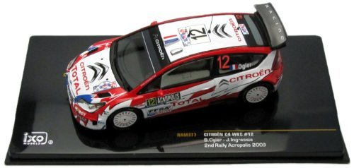 citroen-c4-wrc-2nd-acropolis-rally-2009-12-s-ogier-143-scale-diecast-model-by-ixo