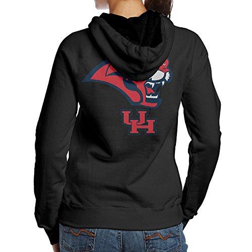 [BNBN Women's University Of Houston Hoodie On The Back Size XL Black] (Lsu Mascot Costume)