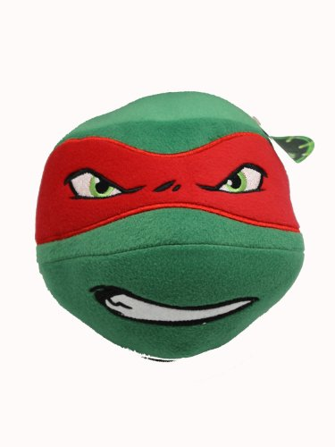 Teenage Mutant Ninja Turtle Head Plush Ball (Raphael) - 1