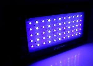 AQUAMANA AQ LED-55x3W Dimmable 120W Blue & White LED Aquarium Light Panel for Coral, Reef & Fish