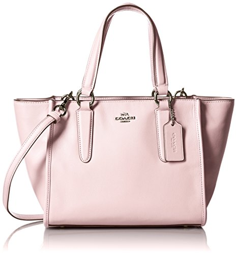 Coach borsa donna a mano shopping in pelle nuova smth lth mini crosby rosa