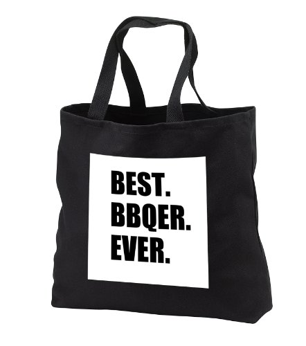 Tb_179759_3 Inspirationzstore Typography - Best Bbqer Ever - BBQ Grilling Chef - Barbecue Grill King Barbecuer - Tote Bags - Black Tote Bag Jumbo 20W X 15H X 5D