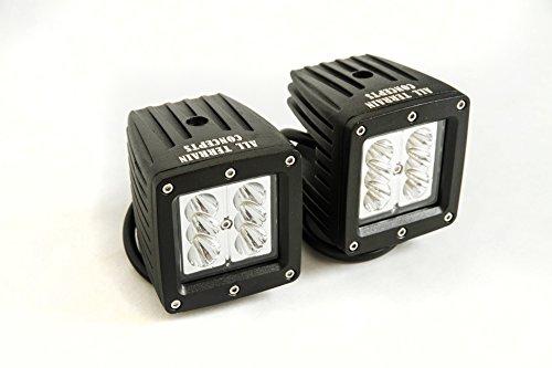 "All Terrain Concepts - Pair Set Of 4"" 6-Bulb Spotlights All Terrain Concepts 18W Led Light Bar Rock Crawler Jeep Rock Light"