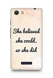 AMEZ she believed she could so she did Back Cover For Micromax Unite 3