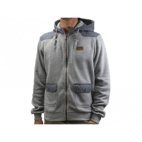 GRI MOWIK Airness-Felpa con cerniera, da uomo grigio XL