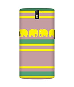 Stripes And Elephant Print (28) OnePlus One Case