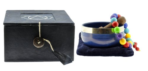 Tibetan Third Eye Chakra, 6th Chakra, Singing Bowl Gift Set #5 Picture
