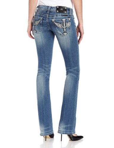 c579893d7d5c02 Get a best deals now for Miss Me Womens Western Embellished Horse Shoe Wing  Boot Cut Jeans 34