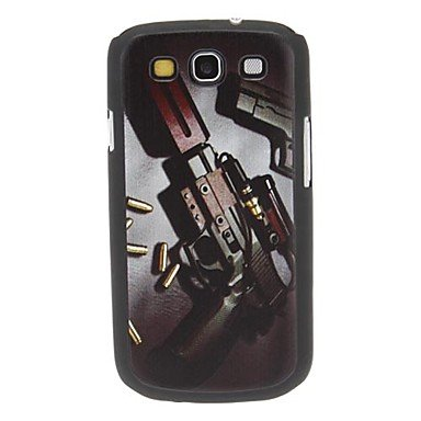Pantapbuy @@Gun and Bullets Pattern Hard Case for Samsung Galaxy S3 I9300 pantapbuy meaning of life pattern pvc back case for samsung galaxy ace 3 s7272