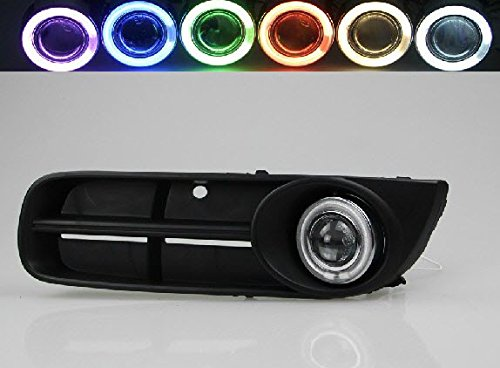 AupTech Innovative Super CCFL Angel Eye Fog Light DRL Exact-Fit Fog Bumper Cover with Projector Lens for Skoda Fabia Scout