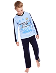Pure Cotton Manchester City Football Club Pyjamas