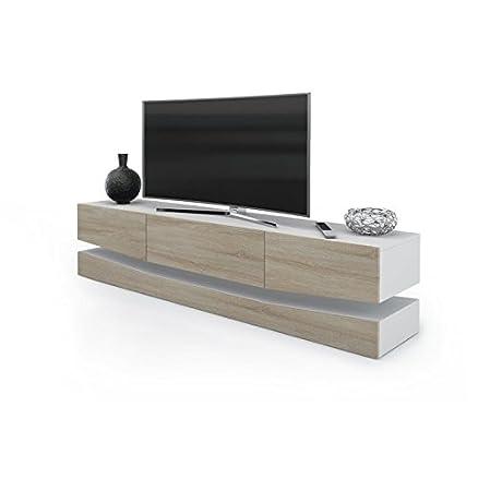 Porta TV moderno modello New York, mobile per tv per il tuo soggiorno frontali rovere segato