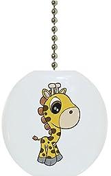 Carolina Hardware and Decor 2156F Baby Giraffe Big Eyes Ceramic Fan Pull