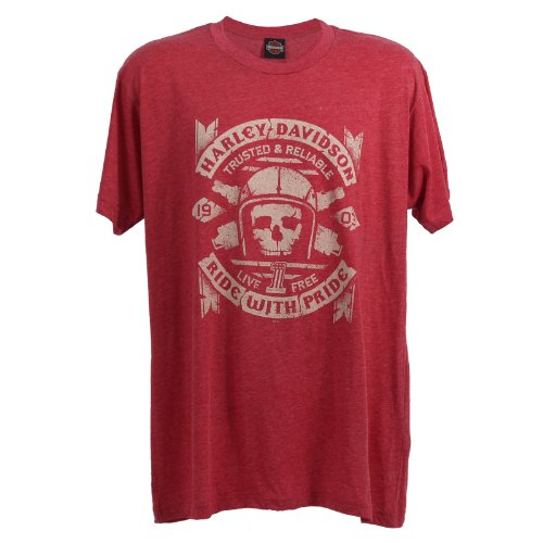 Harley-Davidson Yongsan Ride With Pride T-Shirt Mens, Large, Red Heather