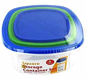 Square Container Set 6 Piece Case Pack 12 Square Container Set 6 Piece Case Pack 12
