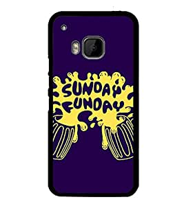 Fuson Premium 2D Back Case Cover Sunday Funday With red Background Degined For HTC One M9::HTC M9::HTC One Hima