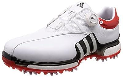 [アディダスゴルフ] ゴルフシューズ ツアー360 Eqt ボア メンズ ホワイトコアブラックハイレスレッド 24.5 Cm
