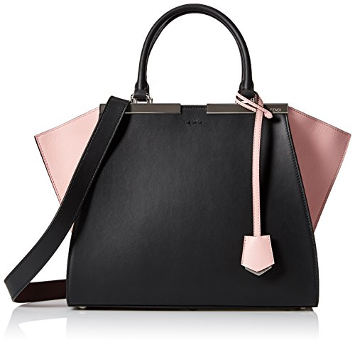 Fendi-Womens-8BH2795R4F0786-Shopping-Bag-2-Jours-BlackPink-One-Size
