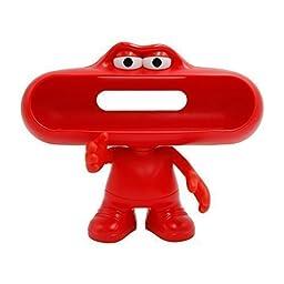 Newlemo Bluetooth Pill Speaker Dude Stand Pill Bluetooth Speaker Holder Cute Pill Dude Speaker (Red)