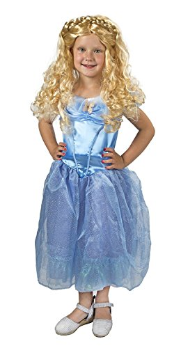 Maven Gifts Disguise Girls Cinderella Movie Classic Costume with Wig