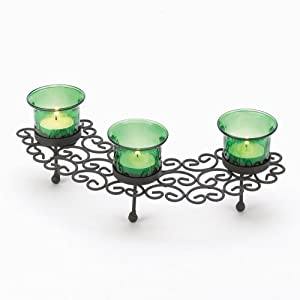 Venetian Lace Emerald Green Tealight Candle Holder