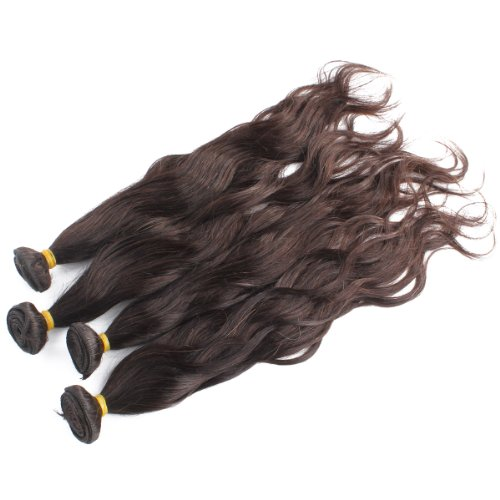 "Yesurprise Natural Wave Wavy Curly 100% Human Hair Weaving Weft Extensions 50G #2 Dark Brown 26"""