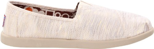 Skechers Womens Bobs Mylar Natural Leather And