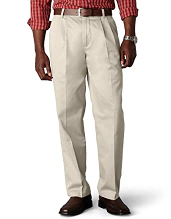 Dockers Men's Signature Khaki Big & Tall Pleated Pant,Cloud,34x38