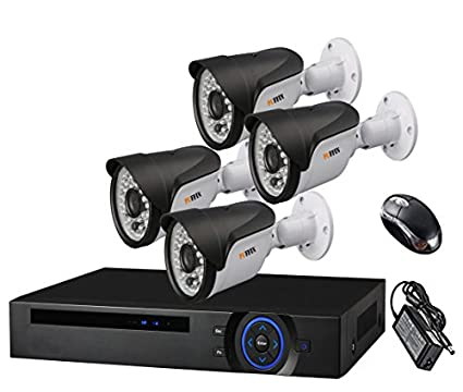 Puffin 4-Channel Dvr, 4(PF-AHD0141) 720P Bullet CCTV Cameras