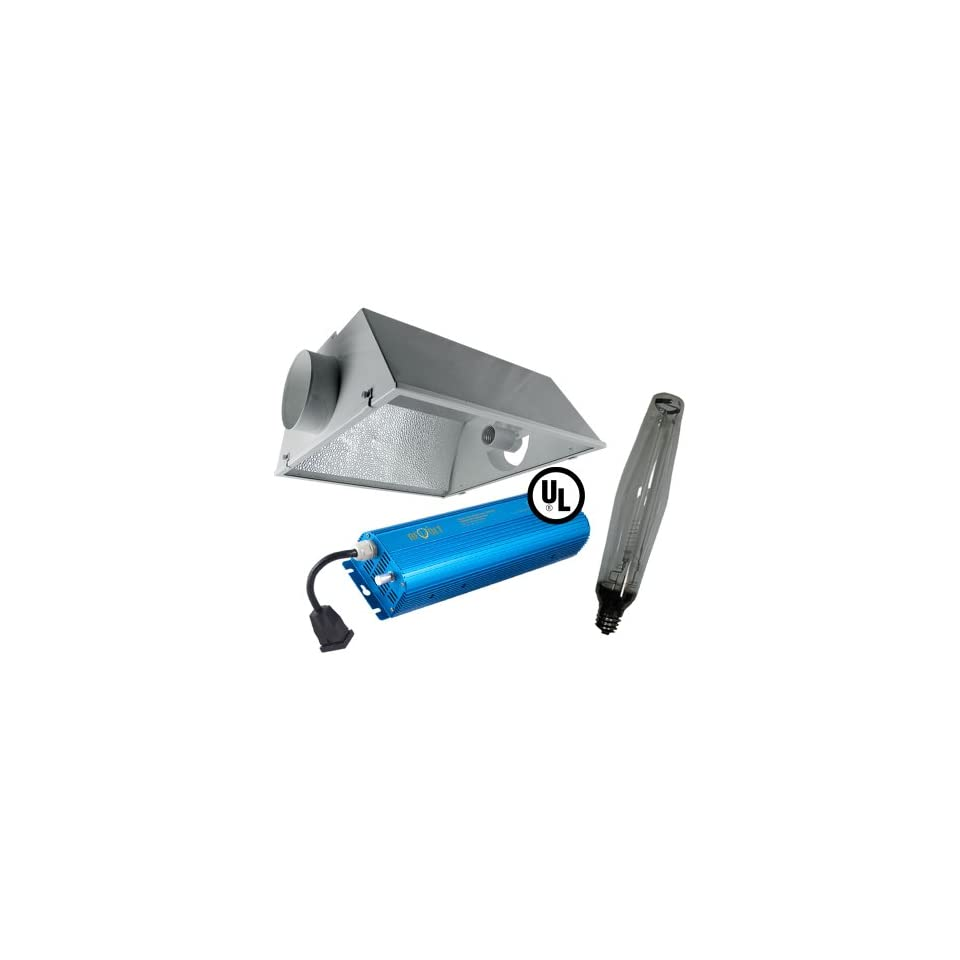 Grow Light Kit, 6 Horizon Cool Sun Air Cooled Reflector (21 x 23), 1000w HPS Bulb, 1000w Digital Ballast