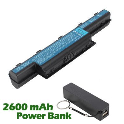 Battpit™ Laptop / Notebook Battery Replacement for Acer Aspire 4741-5578 (6600mAh / 71Wh) with 2600mAh Power Bank / External Battery for Smartphone.