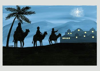 Set of 15 Christmas Cards - Magi