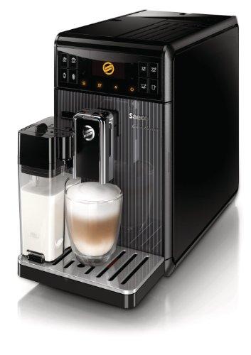 Saeco HD8964/01 GranBaristo Kaffeevollautomat (variabler Brühdruck, Milchbehälter) schwarz thumbnail